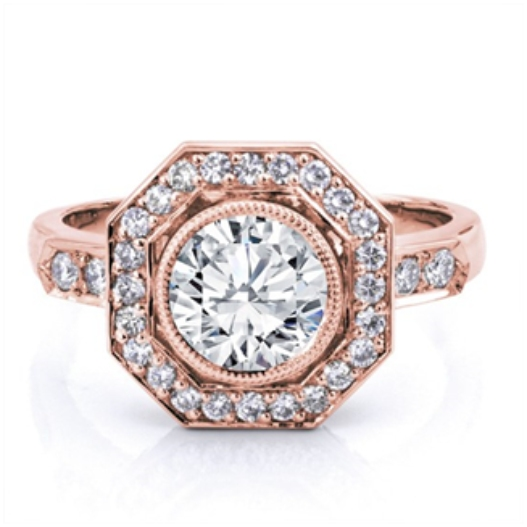 Vintage style rose gold engagement ring - Choose Rose Gold Ring Designs for Your Lady Love